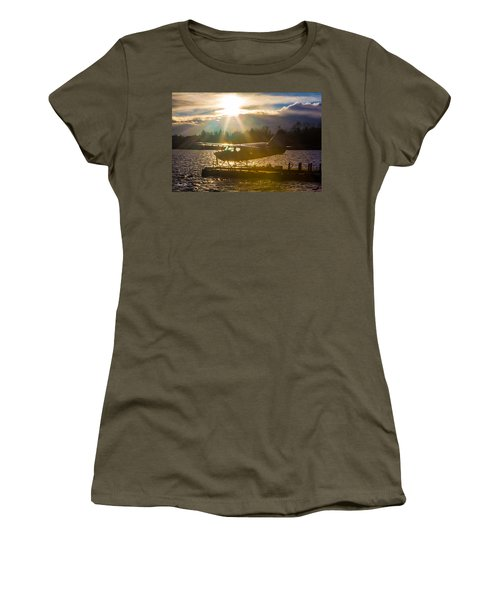 Seaplane Sunset Women's T-Shirt
