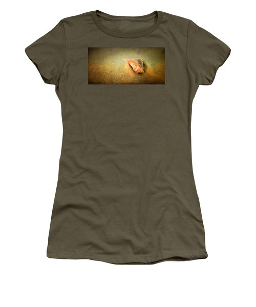 Women's T-Shirt (Athletic Fit) featuring the photograph Seashell by Joye Ardyn Durham