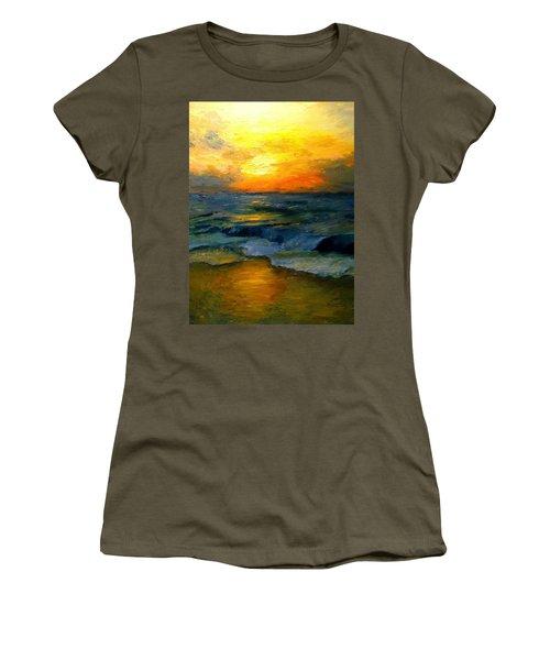 Seaside Sunset Women's T-Shirt (Junior Cut) by Gail Kirtz