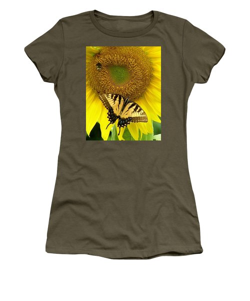 Secret Lives Of Sunflowers Women's T-Shirt (Athletic Fit)