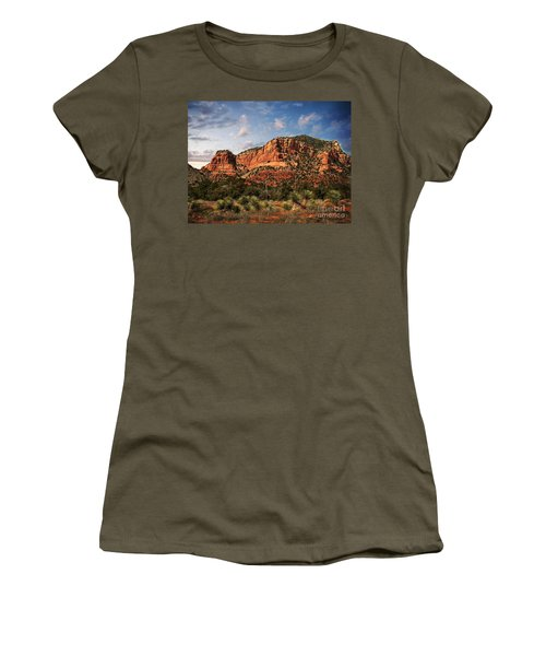 Women's T-Shirt (Junior Cut) featuring the photograph Sedona Vortex  And Yucca by Barbara Chichester