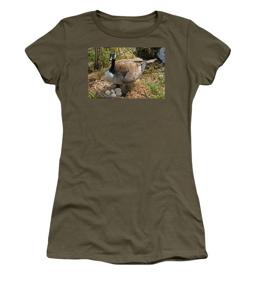 Women's T-Shirt (Junior Cut) featuring the photograph See My Eggs by Elizabeth Winter
