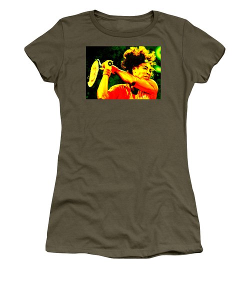 Serena Williams In A Zone Women's T-Shirt (Junior Cut) by Brian Reaves