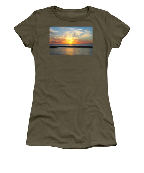 Women's T-Shirt (Junior Cut) featuring the photograph Seven Mile Sunset Over Grand Cayman by Amy McDaniel