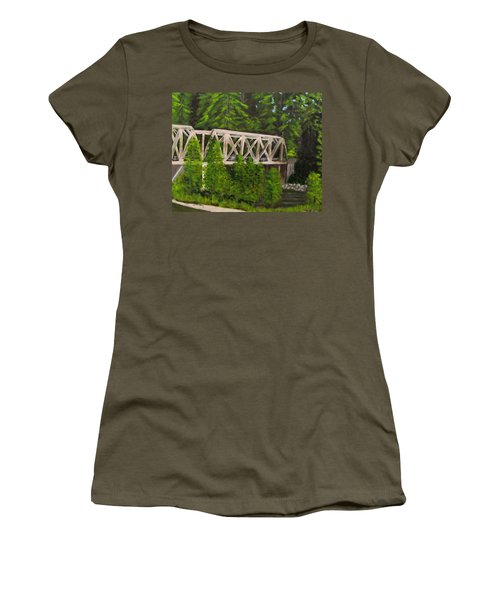 Sewalls Falls Bridge Women's T-Shirt (Athletic Fit)