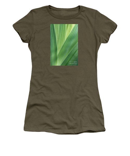 Women's T-Shirt (Junior Cut) featuring the photograph Shades Of Green #2 by Judy Whitton