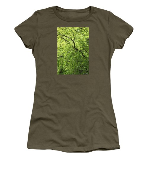 Shades Of Green Women's T-Shirt (Junior Cut) by Amy Gallagher