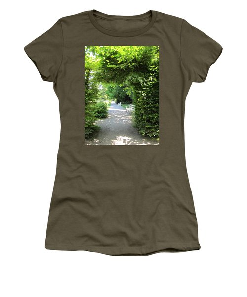 Women's T-Shirt (Junior Cut) featuring the photograph Shady Retreat by Pema Hou