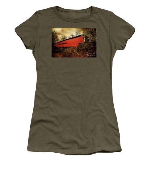 Sheeder Hall Covered Bridge 2 Women's T-Shirt (Athletic Fit)