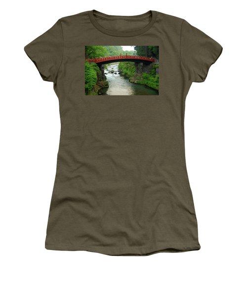 Shinkyo In Nikko Women's T-Shirt (Junior Cut) by Jonah  Anderson