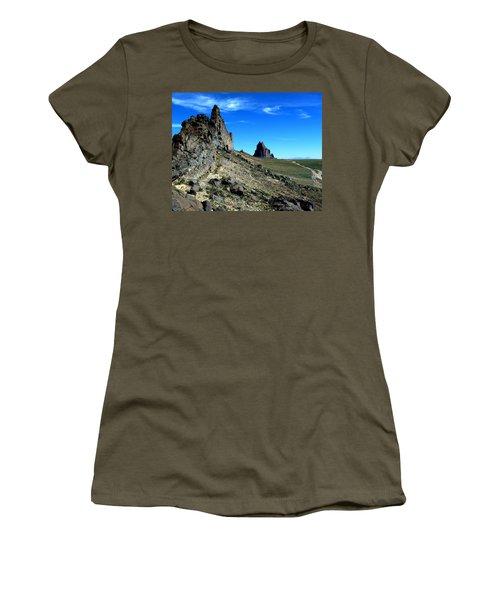 Women's T-Shirt (Junior Cut) featuring the photograph Shiprock by Alan Socolik