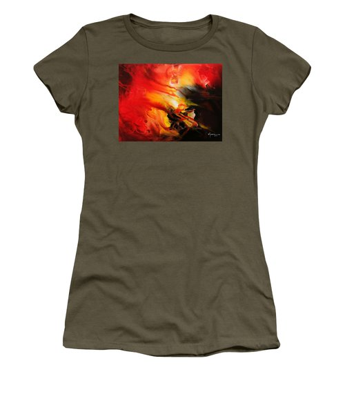 Women's T-Shirt (Junior Cut) featuring the painting Shooting Star by Kume Bryant