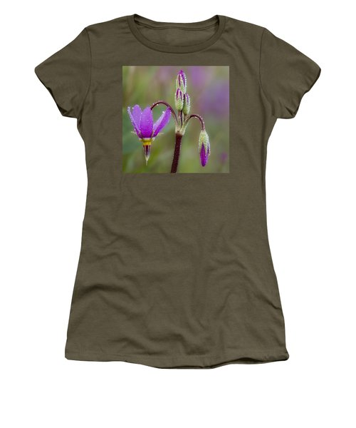 Women's T-Shirt (Junior Cut) featuring the photograph Shooting Stars Square by Sonya Lang