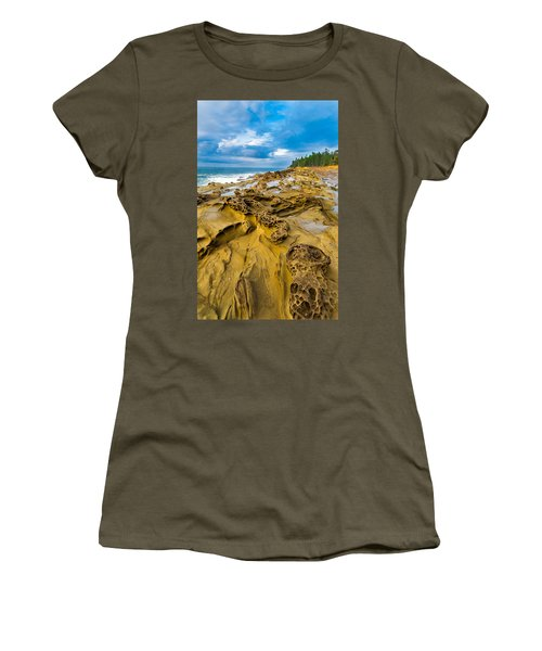 Shore Acres Sandstone Women's T-Shirt (Athletic Fit)