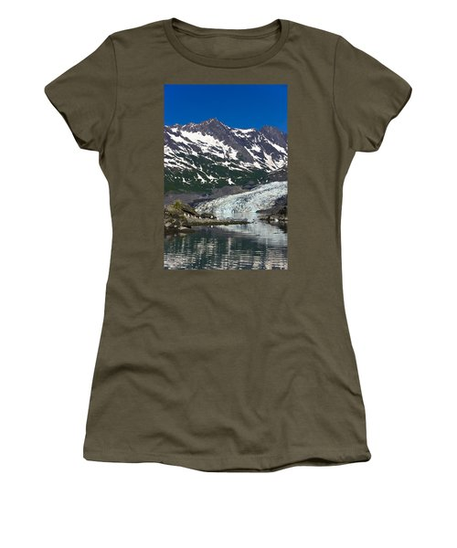 Shoup Glacier Reflected In The Waters Women's T-Shirt