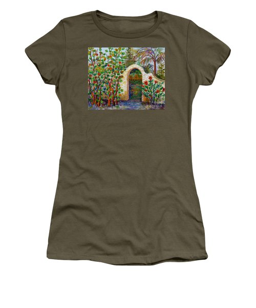 Siesta Key Archway Women's T-Shirt (Junior Cut) by Lou Ann Bagnall