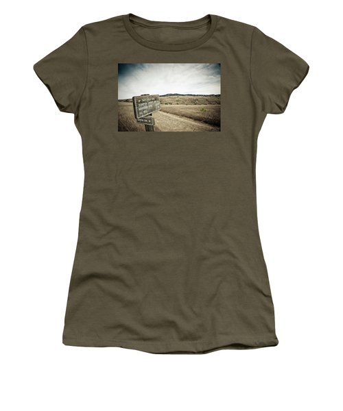 Signs For Hikers On Santa Cruz Island Women's T-Shirt