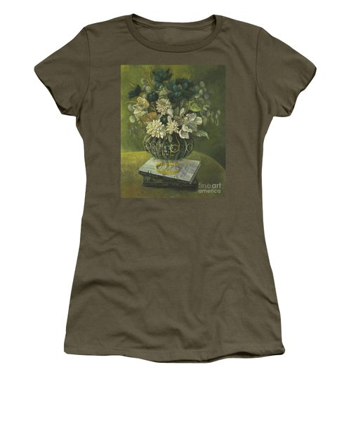Silk Floral Arrangement Women's T-Shirt (Junior Cut) by Marlene Book