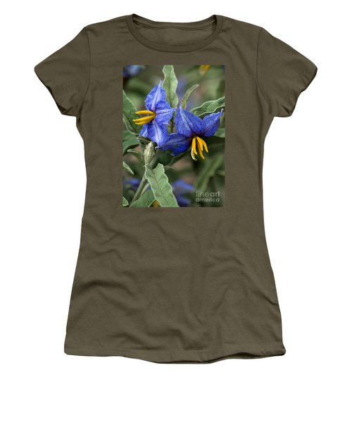 Women's T-Shirt featuring the photograph Silver Leaf Blooms by Mae Wertz
