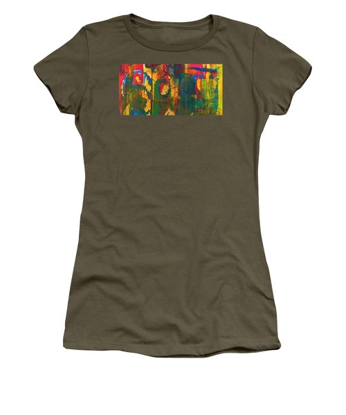 Women's T-Shirt (Junior Cut) featuring the painting Sisters by Anna Ruzsan