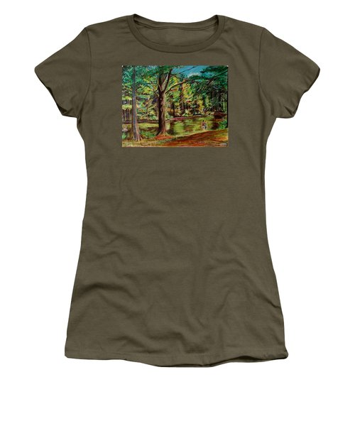 Sisters At Wason Pond Women's T-Shirt (Junior Cut) by Sean Connolly