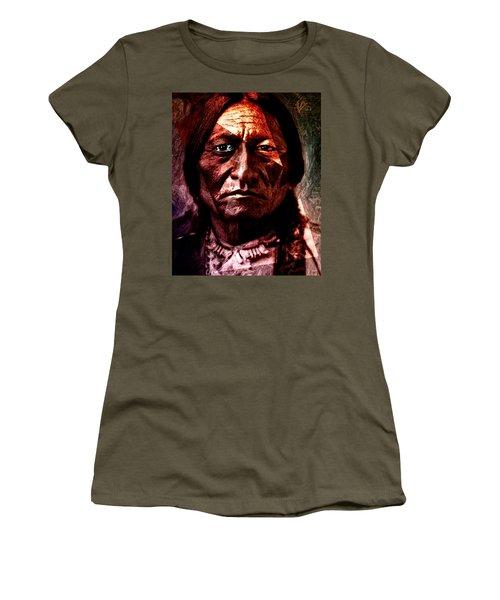 Sitting Bull - Warrior - Medicine Man Women's T-Shirt (Junior Cut) by Hartmut Jager