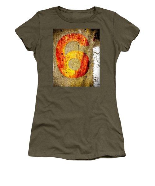 Six Women's T-Shirt (Junior Cut) by Bob Orsillo
