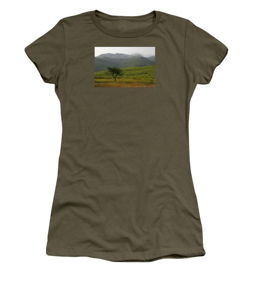 Women's T-Shirt (Junior Cut) featuring the photograph Skc 0053 A Solitary Tree by Sunil Kapadia