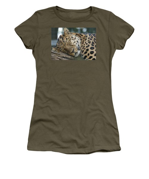 Sleeping Leopard Women's T-Shirt