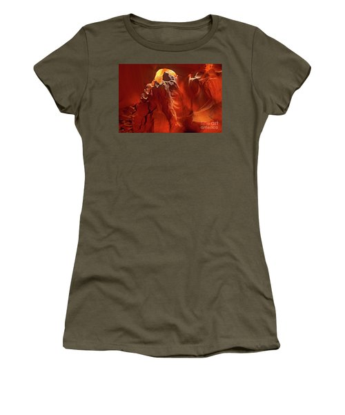 Women's T-Shirt featuring the photograph Slot Canyon Formations In Upper Antelope Canyon Arizona by Dave Welling