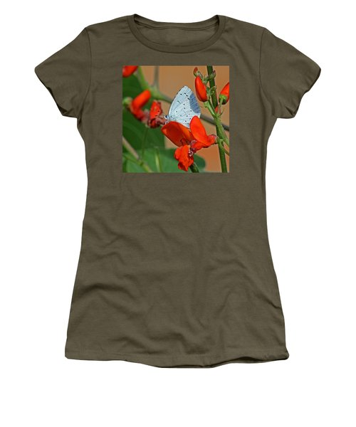 Small Blue Butterfly Women's T-Shirt (Athletic Fit)