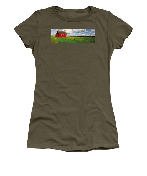 Small Red Schoolhouse, Battle Lake Women's T-Shirt (Athletic Fit)