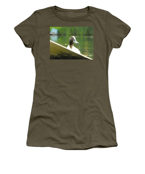 Snooping Duck Women's T-Shirt (Athletic Fit)