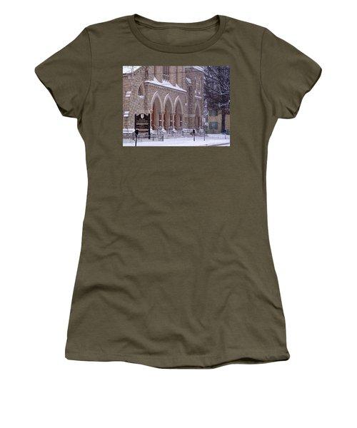 Snow At St. John's Women's T-Shirt