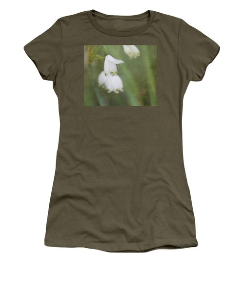 Snowdrops Women's T-Shirt (Junior Cut) by Katie Wing Vigil