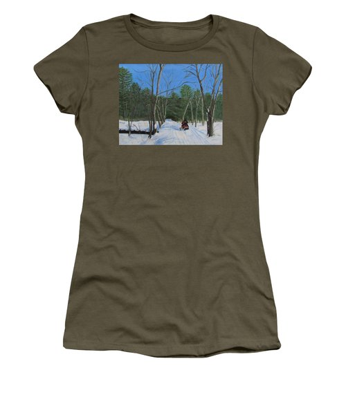 Snowmobile On Trail Women's T-Shirt