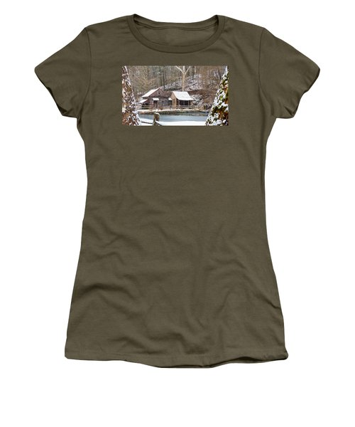 Snowy Morning In The Woods Women's T-Shirt