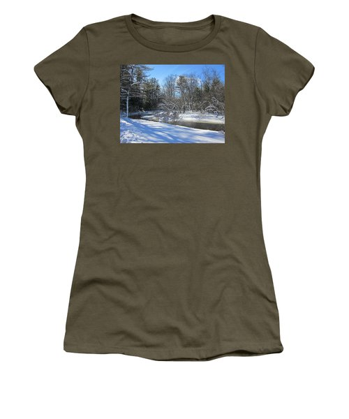 Snowy Otter Brook Women's T-Shirt