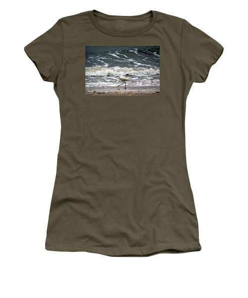 Snowy White Egret Women's T-Shirt