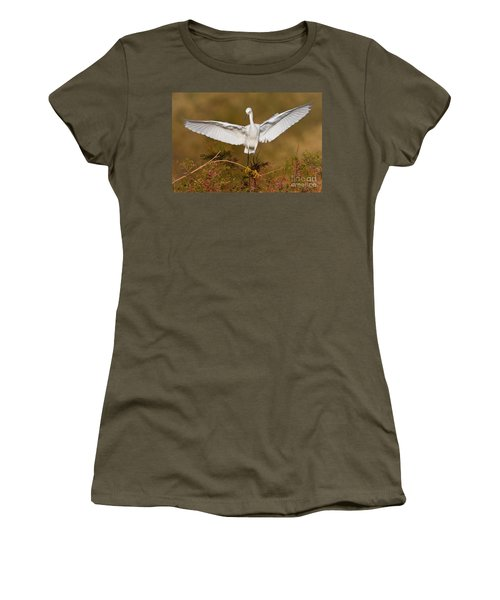 Women's T-Shirt (Junior Cut) featuring the photograph Snowy Wingspread by Bryan Keil