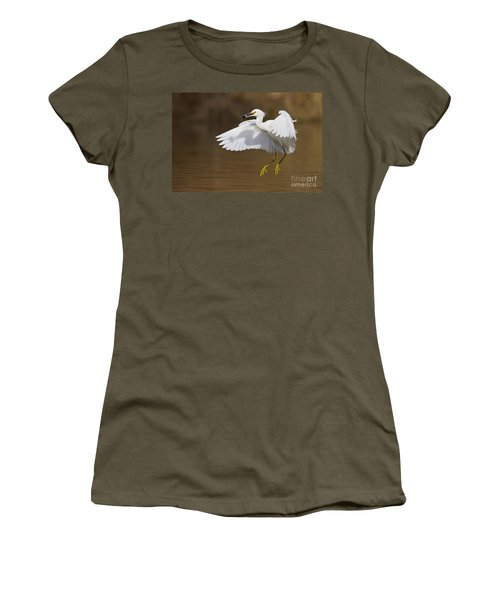 Snowy With A Fish Women's T-Shirt (Junior Cut) by Bryan Keil