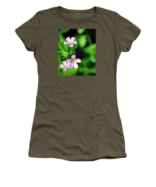 So Delicate In Purple. Texas Spring Perennial Women's T-Shirt (Junior Cut) by Connie Fox