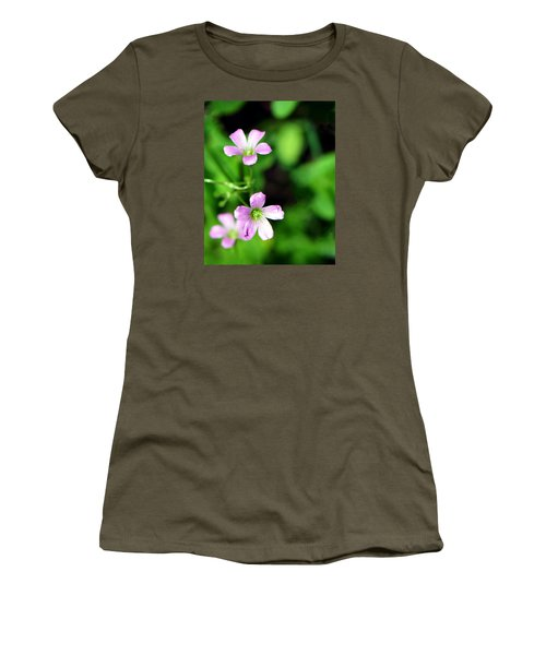 So Delicate In Purple. Texas Spring Perennial Women's T-Shirt (Athletic Fit)