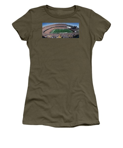 Sold Out Crowd At Mile High Stadium Women's T-Shirt (Athletic Fit)