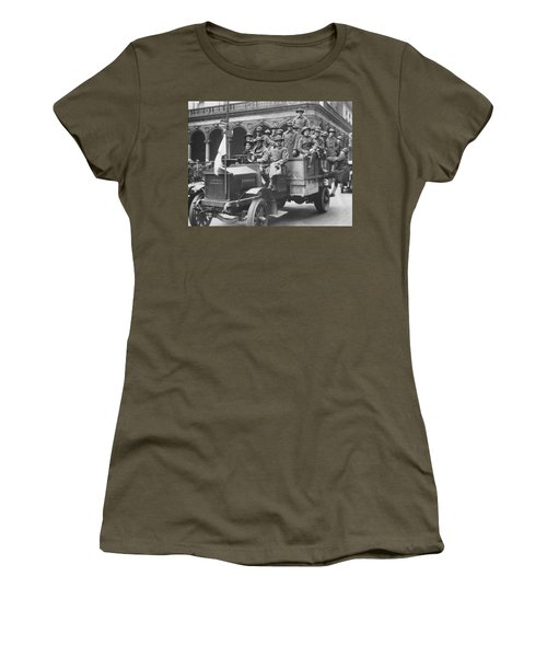 Soldiers At Free Circus Show Women's T-Shirt