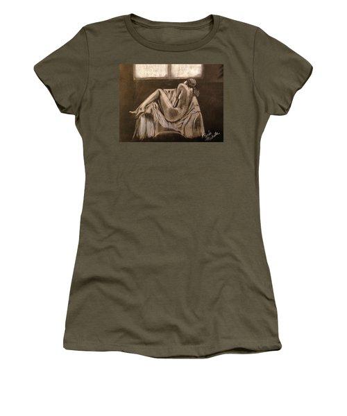 Solitude Women's T-Shirt (Junior Cut) by Renee Michelle Wenker