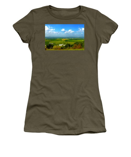 Southern Illinois River Basin Farmland Women's T-Shirt (Athletic Fit)