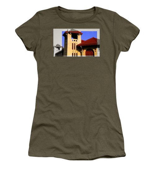 Spanish Architecture Tile Roof Tower Women's T-Shirt