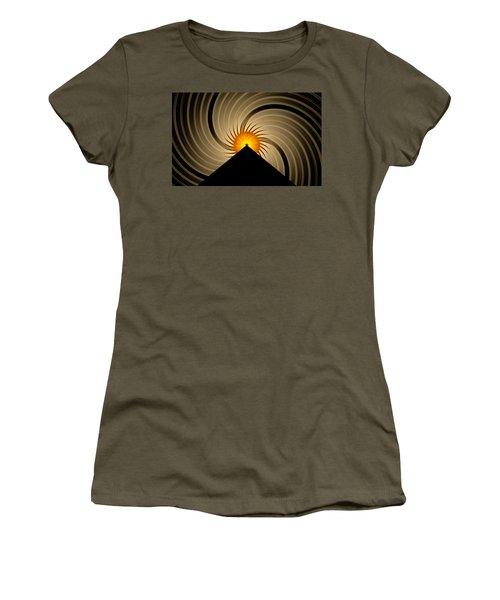 Women's T-Shirt (Junior Cut) featuring the digital art Spin Art by GJ Blackman