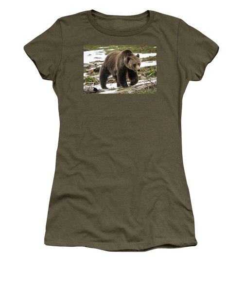 Women's T-Shirt (Junior Cut) featuring the photograph Spring Grizzly Bear by Jack Bell
